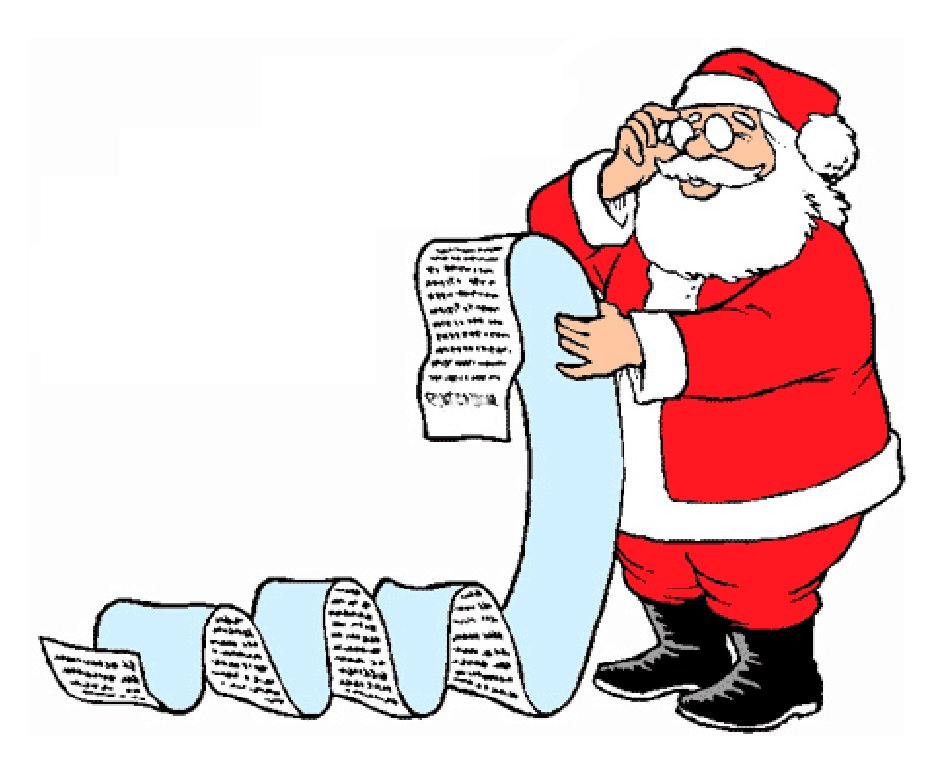 A letter to Father Christmas; because adults can write to ...