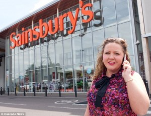 Jo Clarke; a disgruntled Sainsbury's customer who feels disresected after being told not to use her phone at the checkout.